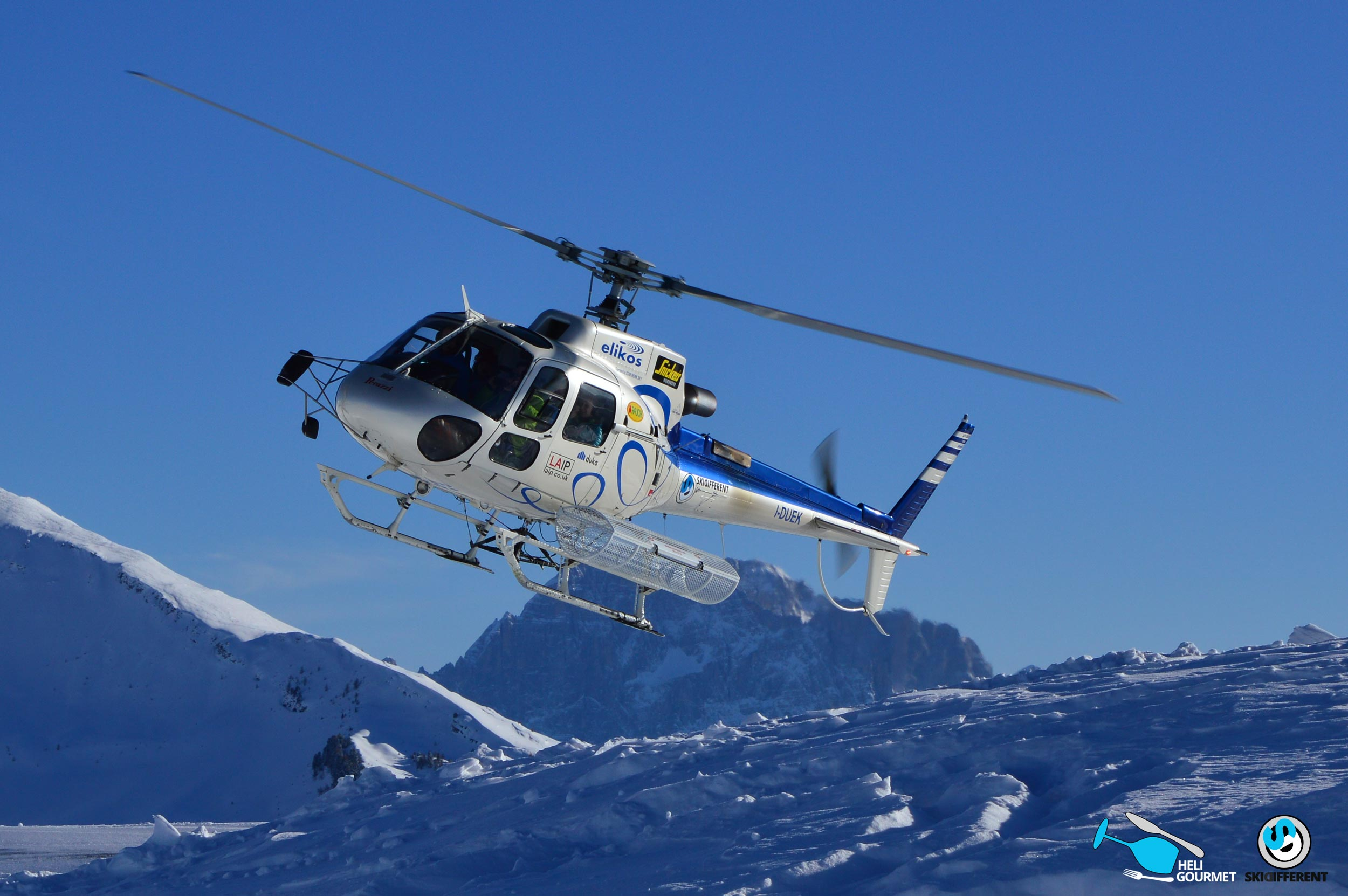 Helicopter tour dolomites