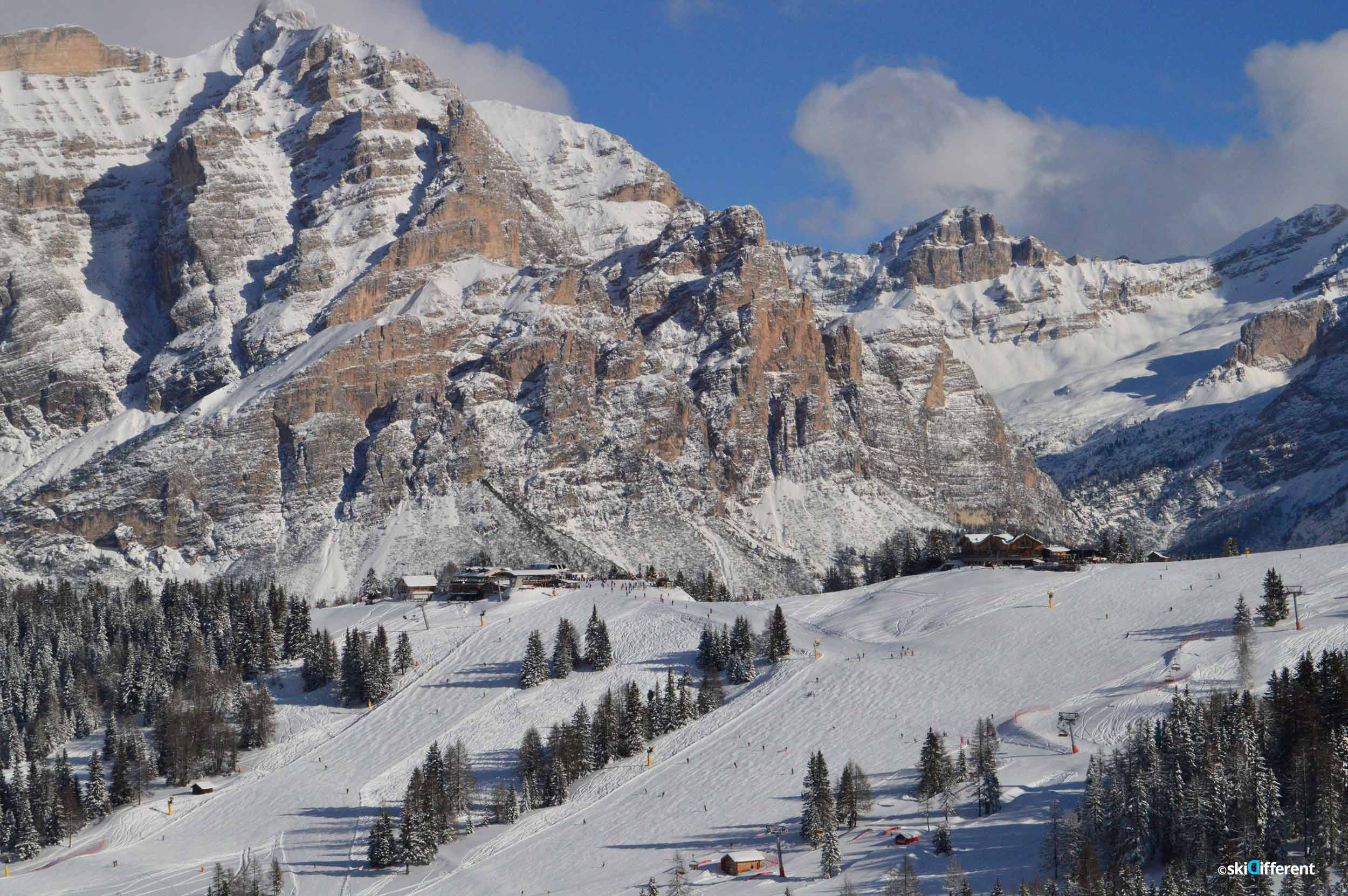 Hidden valley 5 Torri Lagazuoi ski tour guided ALTA BADIA Dolomites