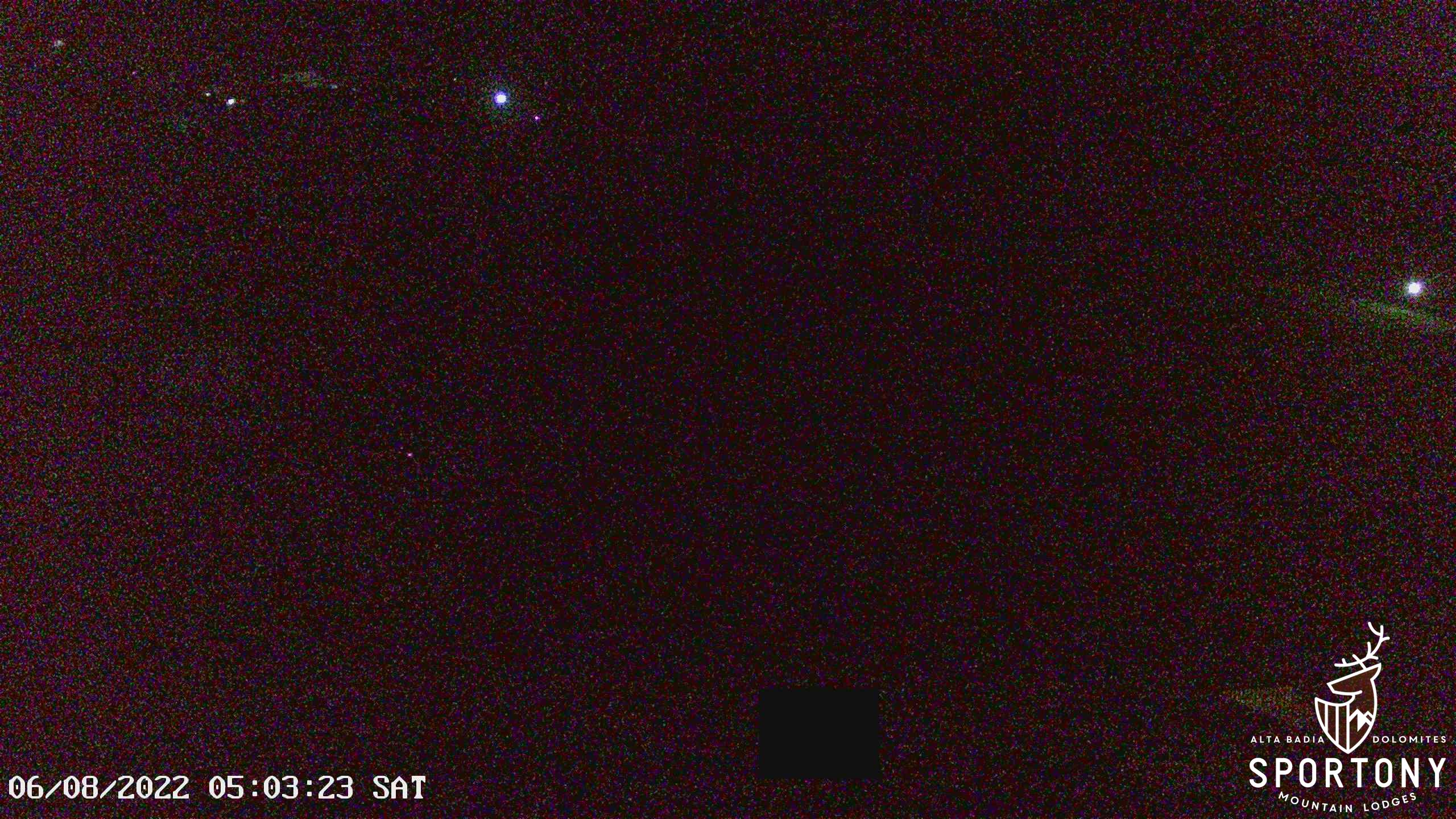 Webcam Chalets Sportony Lodge ski in ski out piste Gardenaccia Dolomiti Superski La Villa Alta Badia